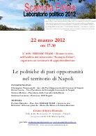 22 marzo 2012: online il video dell'incontro sulle P.O.