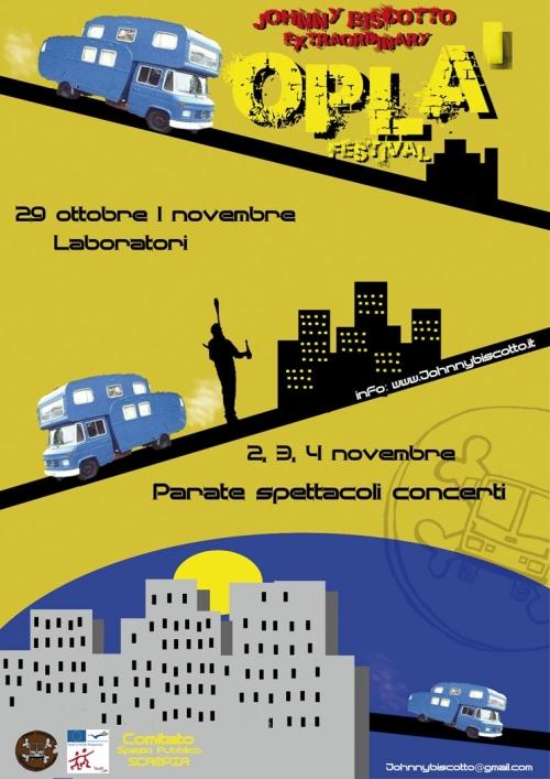 Oplà Festival Biscotto a Scampia 29 ottobre – 4 novembre 2012