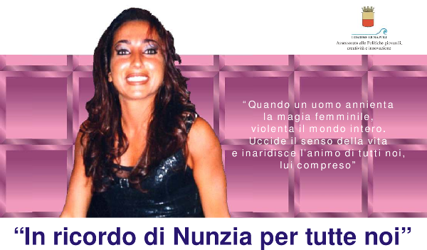 Dream Team ricorda Nunzia Castellano, vittima di femminicidio